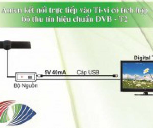 Anten Ti-vi DVB-T2 Tích Hơp Bộ Thu Tín Hiệu Truyền Hình Số