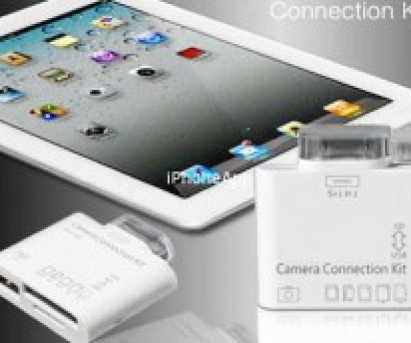 Đầu Đọc Thẻ Nhớ Và Cổng USB Cho iPAD