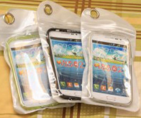 Ốp lưng silicon cho Samsung i8552 + túi chống nước cho điện thoại