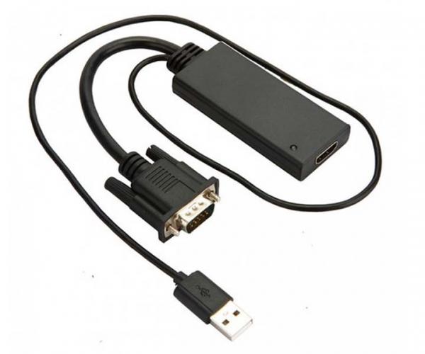 Cáp chuyển đổi từ cổng HDMI cho ra VGA và USB