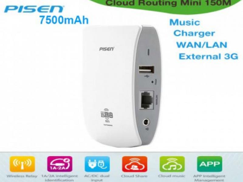 Bộ Phát Wifi 3G Pisen Cloud Router Box 7500mAh