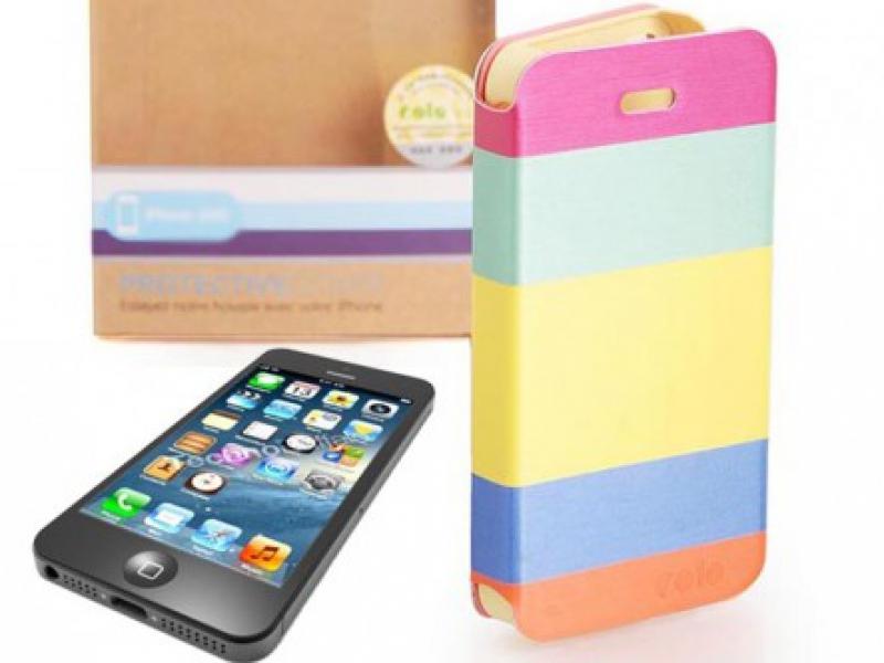 Bao Da Óp Lưng Cho iPhone 5/5S Sắc Màu Color