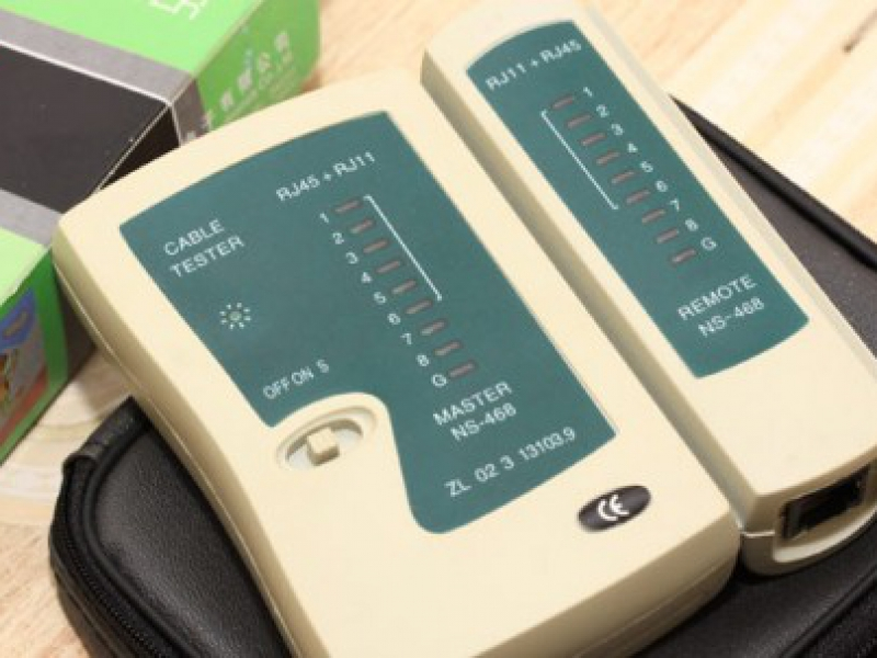 Dụng cụ kiểm tra dây cáp internet, điện thoại Cable Tester RJ11, RJ45