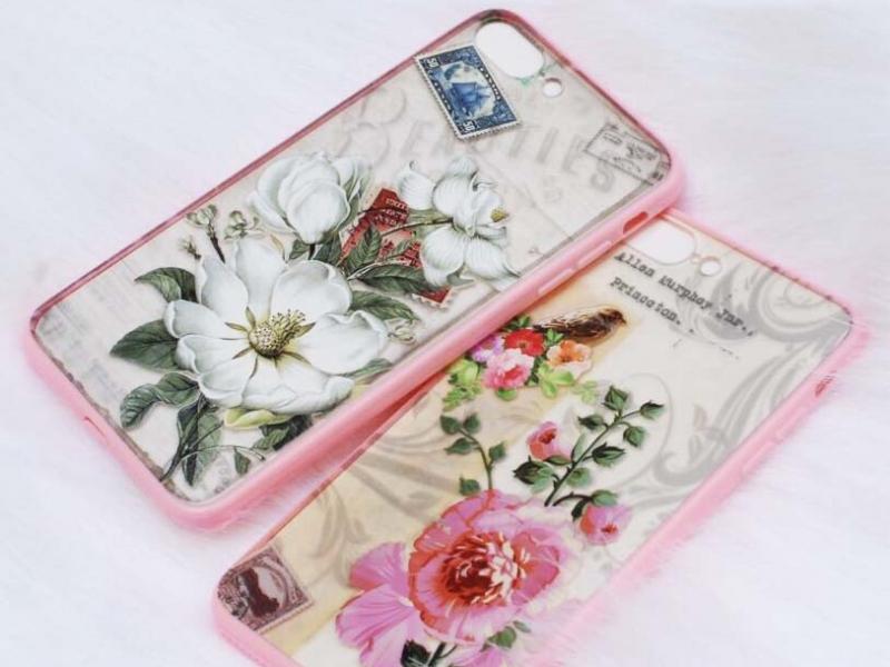 Ốp iphone 6/6s/6 plus hoa Châu Âu siêu đẹp