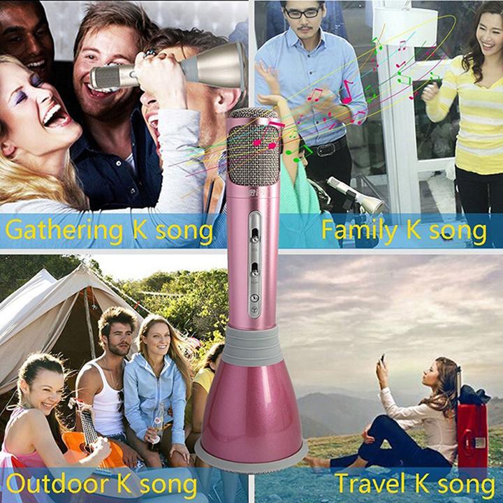 Micro Loa Karaoke Bluetooth Cho Smartphone